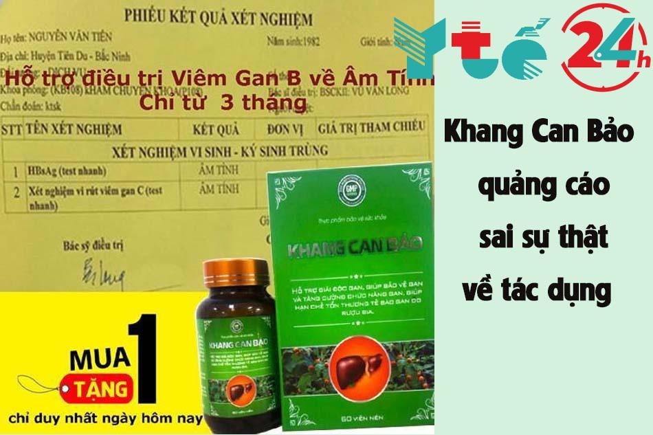 Khang Can Bảo quảng cáo sai sự thật về tác dụng của thực phẩm chức năng