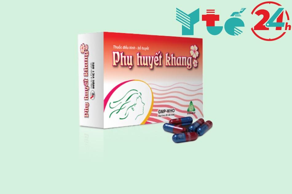 Phụ huyết khang giảm đau bụng kinh với thành phần chính là các loại thảo dược