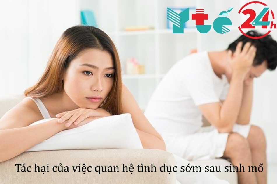 Những tác hại của việc quan hệ tình dục sớm sau sinh mổ
