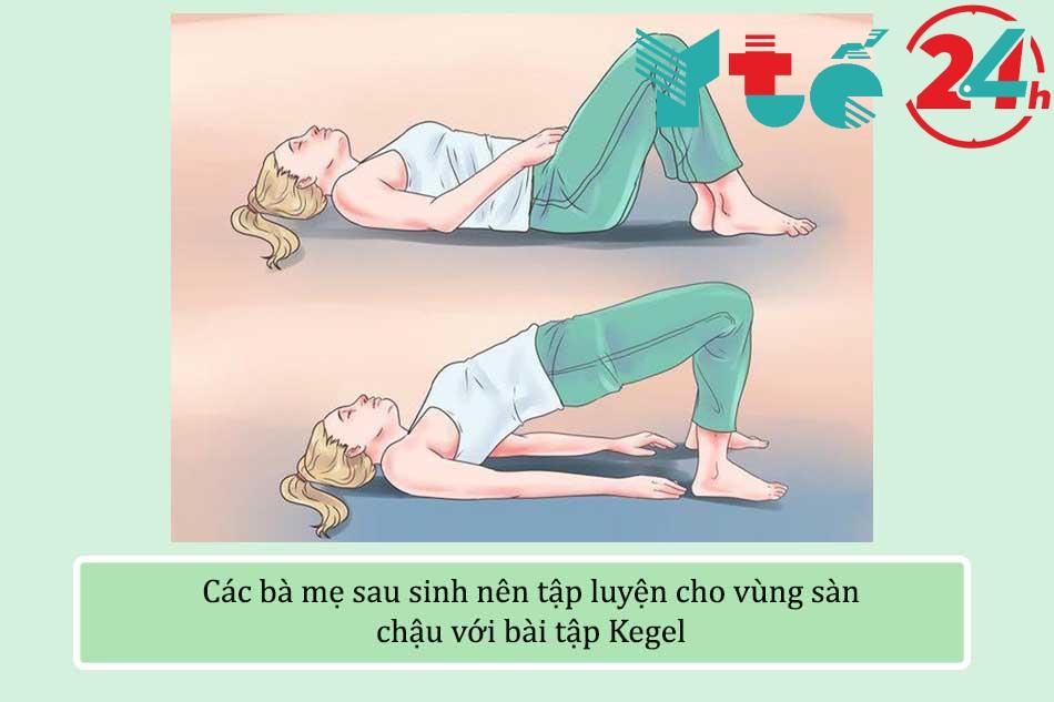 Các bà mẹ sau sinh nên tập luyện cho vùng sàn chậu với bài tập Kegel
