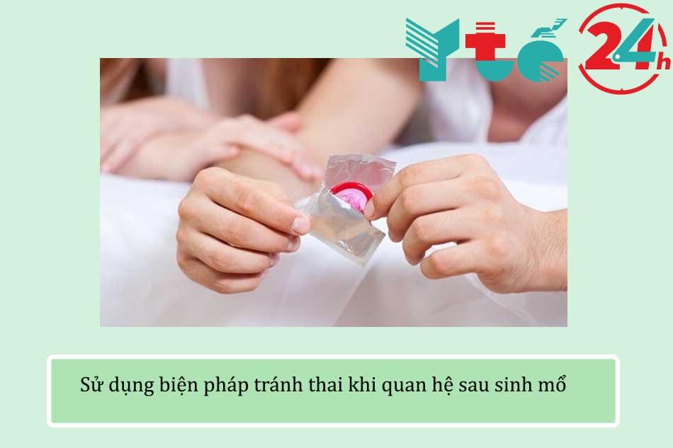 Sử dụng biện pháp tránh thai khi quan hệ sau sinh mổ