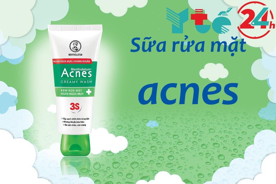Sữa rửa mặt Acnes giúp ngăn ngừa mụn trên da