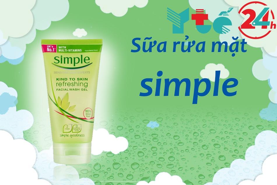 Sữa rữa mặt Simple có nguồn gốc từ Anh Quốc