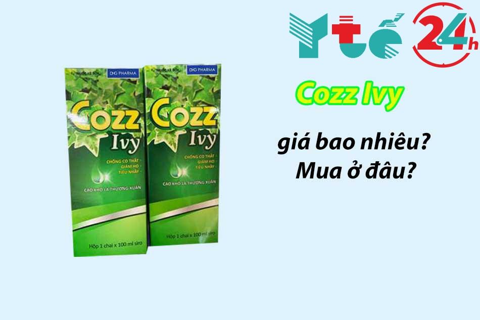 Giá bán chính hãng của thuốc ho Cozz Ivy