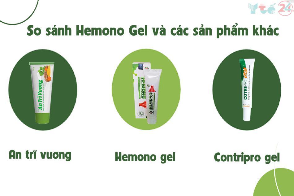 So sánh Hemono Gel và các sản phẩm khác