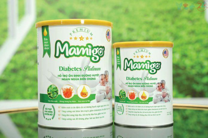 Sữa tiểu đường thảo dược Mamigo Diabetes Platinum