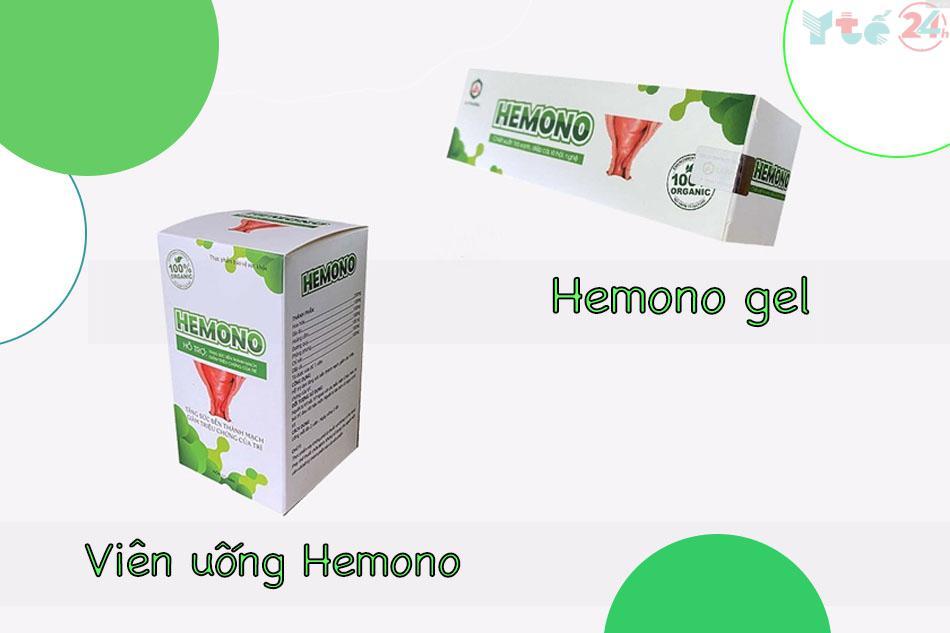 Hình ảnh Hemono dạng gel và dạng viên uống